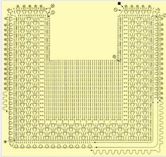 Diagram for a baby bib or crochet rug ♥️LCD-MRS♥️ diagram only. Filet Crochet, Crochet Diagram, Crochet Chart, Crochet Stitches, Knit Crochet, Crochet Patterns, Knitting For Kids, Crochet For Kids, Baby Knitting