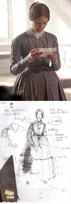 Costume rendering for 'Jane Eyre' (2011) by Michael O'Connor