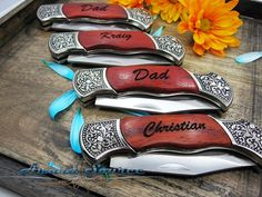 Personalized Gift for Men  Engraved Pocket Knife  by KnifePro, $20.95