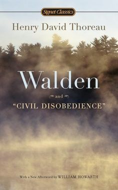 Walden and Civil Disobedience by Henry David Thoreau, http://www.amazon.com/dp/0451532163/ref=cm_sw_r_pi_dp_39Xvrb1Z91GHK