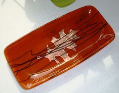 Hey, I found this really awesome Etsy listing at https://www.etsy.com/listing/184079229/fused-glass-dish-autumn-copper-leaf