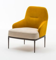 Leather armchair with armrests GIOIA Milano Collection Collection By OAK design Luca Scacchetti Recycled Furniture, Cool Furniture, Furniture Design, Furniture Dolly, Furniture Chairs, Furniture Stores, Wooden Furniture, Home Design, Interior Design