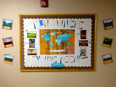 Pin Where You've Been! - January Bulletin Board