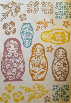 fashionable wall stickers for modern home - Matryoshka - interior decoration with wall stickers.