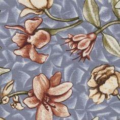 Garden Sketchbook, Large Floral in Blue