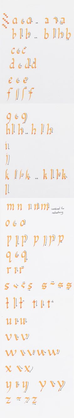 Calligraphy Tutorial- Lowercase Foundational by ~bizmiard on deviantART