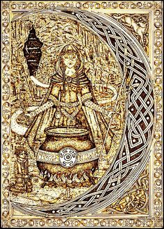 Hecate or Hekat, originally a goddess of the wilderness and childbirth