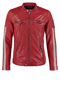 Freaky Nation INDI Leren jas red