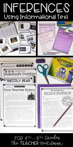 Inferences Using Informational Text is a 70 page set filled with worksheets, 2 sets of task cards, posters, games, and fun activities, which will help your students practice this very important reading strategy. The inference activities are easy to scaffold in your classroom and the teacher notes provided give lots of helpful tips to make the unit easy to teach and manage! by lea
