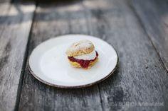 Vegan Pumpkin Scones w/ Strawberry Chia Seed Jam + Cardamom Whipped Coconut Cream   Veggie num num