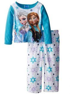 Disney Little Girls' Toddler Frozen Anna and Elsa Cozy Fleece Pajama Set Frozen Disney, Anna Frozen, Mickey Mouse, Minnie, Pijama Frozen, Ty Toys, Girls Sleepwear, Fleece Pajamas, Toddler Girl Outfits