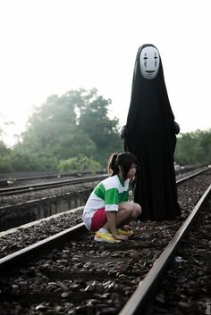 Spirited Away cosplay, Chihiro & No Face.
