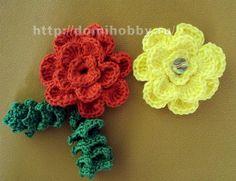 diagramme http://crochet-plaisir.over-blog.com/article-fleurs-colorees-et-leurs-grilles-gratuites-au-crochet-113473904.html