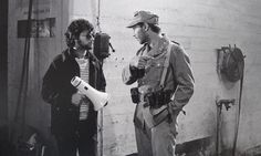 Steven Spielberg and Harrison Ford behind the scenes on #IndianaJones Raiders of the Lost Ark (1981).