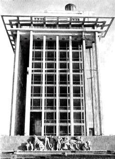 Edificio de Banco de México, el Puerto de Veracruz, Veracruz, México 1950   Arq. Carlos Lazo -  Bank of Mexico building, Port of Veracruz, Veracruz, Mexico 1950