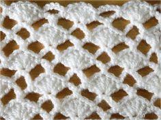 かぎ編みの模様編み 2 How to Crochet Pattern Crochet Shell Stitch, Crochet Chart, Crochet Blanket Patterns, Crochet Stitches, Knitting Patterns, Crochet Doilies, Quick Crochet, Cute Crochet, Knit Crochet