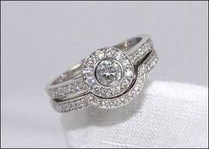 Milwaukee Antique Jewelry - Antique Diamond Engagement Ring & Wedding Band Set | Powers Jewelry Designers Milwaukee Wisconsin