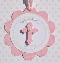 Baptism Favor Tags Pink Set of 12 by StudioDris on Etsy, $10.00: