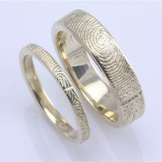 custom fingerprint wedding bands... love it :)