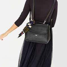 Image 4 of CONVERTIBLE BACKPACK WITH SCARF from Zara