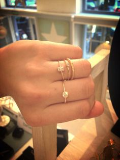 Anillos minimalistas de plata y plata bañada en oro! 100% made in Spain!!