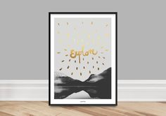 Originaldruck - Kunstdruck Poster / Explore - ein Designerstück von typealive bei DaWanda