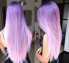 Purple lavender pastel dyed hair color @pbhairuniverse