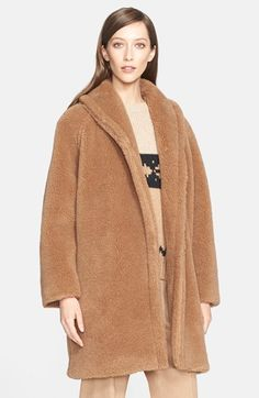 Free shipping and returns on Max Mara 'Teddy Bear' Faux Fur Coat at Nordstrom.com. Named for its plush texture, this shawl-collar teddy bear coat is as soft and huggable as a childhood relic. Oversized proportions and an open front allow the style to be loosely wrapped around the body for added warmth.
