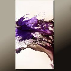 Original Abstract Art Painting  48x24 Contemporary by wostudios, $229.00