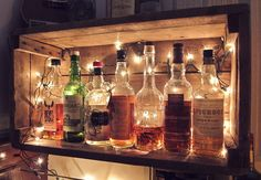 The Chic Technique: cute idea for a home bar Check out the website
