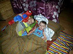 Cousins: Chrystian, 5 and Mason, 4