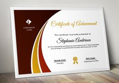 Ad: Modern Certificate Template (pptx) by Inkpower on Create your own certificate with this creative certificate template. This is a certificate template created with MS PowerPoint program and Business Brochure, Business Card Logo, Powerpoint Program, Powerpoint 2010, Word Program, Online Fonts, Importance Of Time Management, Certificate Of Achievement, Stationery Templates