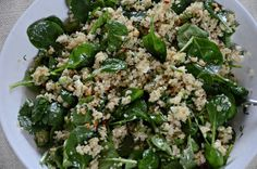 Pamela Salzman's Spinach And Quinoa Salad With Feta And Dill (Aka, Spanakopita Without The Guilt)