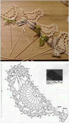 Crochet Applique Patterns Free, Crochet Flower Patterns, Crochet Diagram, Crochet Motif, Crochet Designs, Crochet Doilies, Crochet Flowers, Knit Crochet, Crochet Leaves