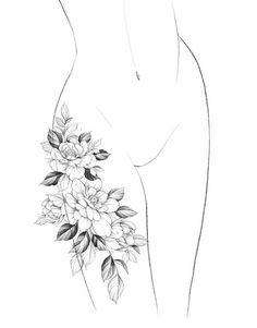 Mini Tattoos, Cute Tattoos, Leaf Tattoos, Small Tattoos, Sleeve Tattoos, Flower Cover Up Tattoos, August Flower Tattoo, Flower Tattoo Designs, Geometric Mandala Tattoo