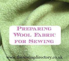 Preparing wool fabrics before you start sewing by Fabricology