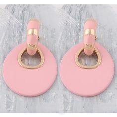 NeeFu WoFu Big Earring fashion jewelry Printed rings for women Leather orecchini Ear femme Large Brinco Oorbellen Halloween - apricot 361181