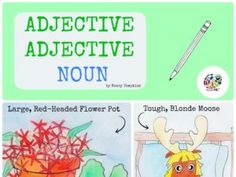 Adjective Adjective Noun: Drawing Lessons for Kids: KinderArt Drawing Lessons For Kids, Art Lessons, Drawing Skills, Family Art Projects, Creative Teaching, Teaching Ideas, Nouns And Adjectives, Middle School Grades, Grammar And Punctuation