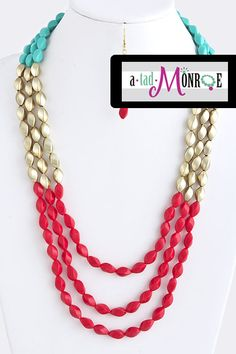 spray paint a set of boring old lady beads