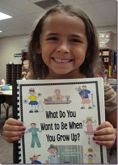 Class-made book: What Do You Want to Be When You Grow Up. Do after reading about Kevin Henke's character Lily wanting to be a teacher when she grows up (Purple Plastic Purse).