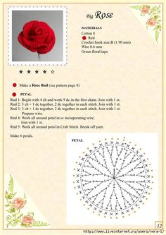 Best 11 Free Crochet Pattern with tutorial This project belongs to very easy, slowly step by step with written instructions you will crochet your own cozy rose.Best 12 Crochet Flower Pattern for a large Blue Moon Rose by Happy Patty Crochet – Skill Appliques Au Crochet, Crochet Motifs, Crochet Chart, Crochet Hooks, Crochet Puff Flower, Knitted Flowers, Crochet Flower Patterns, Crochet Designs, Fleurs Diy