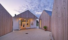 This summer house is Denmark, built for a family of five and a dog, is split up into five separate buildings.