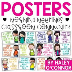 Get practical ideas for how to model kindness and respect and develop character education in your classroom. Build a culture of respect and kindness. Classroom Jobs, Classroom Posters, Classroom Management, Future Classroom, Beginning Of School, First Day Of School, Kindergarten First Week, Growth Mindset Posters, Responsive Classroom