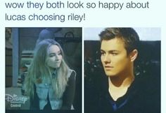 Go away Riley. I would like to see an episode were Riley is on vacation or something and Maya and Lucas are left alone