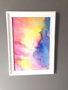 Abstract watercolor by Kelly Knez, Melbourne Australia