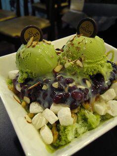 HOLLYS COFFEE 녹차 빙수, Green Tea Ice