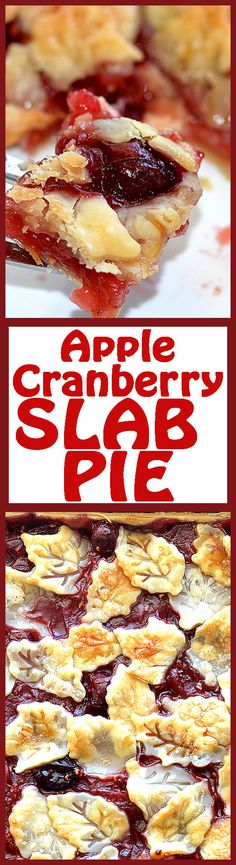 Vegan Apple Cranberry Slab Pie. I'm not the biggest fan of cranberry, but looks good