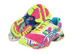 It's a party on your feet! Asics Gel Noosa Tri 7 shoes with glow in the dark features!! YES, please!!!