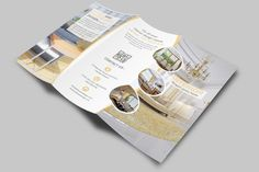 Classic Interior Trifold Brochure by Creative Design on @creativemarket