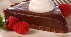 Chocolate Mudslide Frozen Pie is the pefect make-ahead dessert! Chocolate crumb crust is topped with a mixture of sour cream, melted semi-sweet chocolate morse Chocolate Morsels, Chocolate Truffles, Chocolate Desserts, Melted Chocolate, Decadent Chocolate, Cupcakes, Cupcake Cakes, Tart Recipes, Sweet Recipes